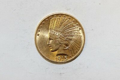 1915 $10 Indian Gold Coin No Reserve