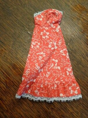 Vintage Barbie Best Buy Red/white Lace Trim Sleeveless Dress #9619 Exc