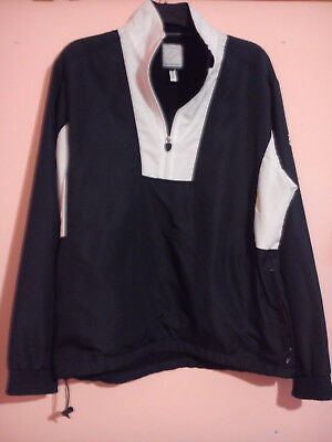 Ian Poulter Designer Black + White Golf Shower Jacket Overshirt Size L Large Vgc