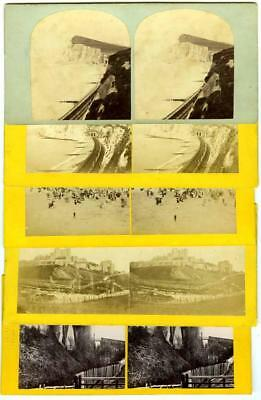 Kent: Dover, Castle, Railway station & Shakespeare's Cliff dated 1867, 5 views
