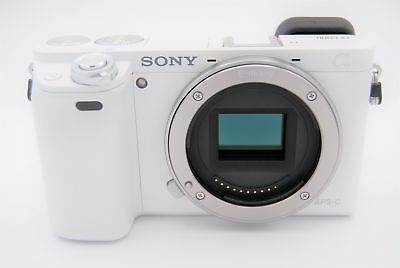 Sony Alpha a6000 24.3MP Digital Camera - White (Body Only) - Shutter Count: 6