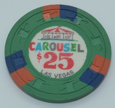Carousel $25 Casino Chip Las Vegas Nevada H&C CJ Mold 1965 FREE SHIPPING
