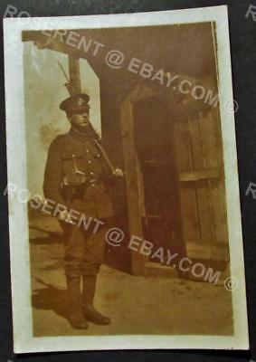 1919 Royal Warwickshire Regiment - Koln - Guard post private Photo 8.5 by 6cm