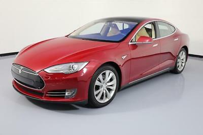 2014 Tesla Model S  2014 TESLA MODEL S 85 TECH PANO SUNROOF NAV LEATHER 44K #P38147 Texas Direct