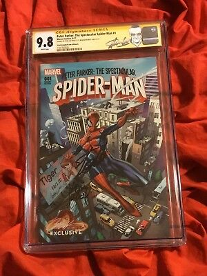 Cgc Ss 9.8~Peter Parker Spider-Man #1~Campbell Variant A~Signed By Stan Lee~
