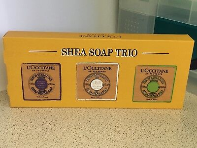 L'occitane En Provence Shea Soap Trio Set New In Box