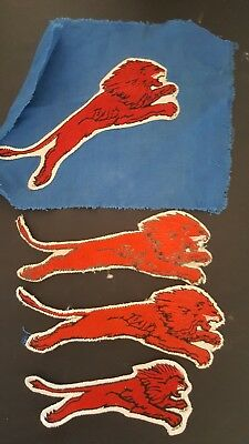 Vintage Rare Gilmore Red Lion Gasoline & Oil Co. Uniform Jacket Patch Lot Of 4