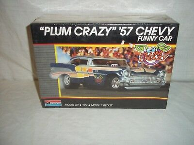 "monogram ""PLUM CRAZY"" 57 chevy funny car kit"