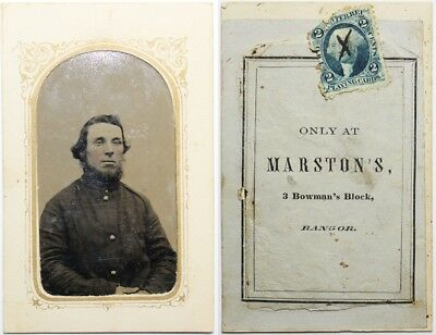 Original Civil War Federal Tintype Of Maine Soldier