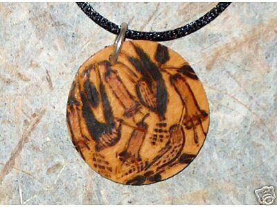 NEW HANDMADE Carved Gourd Hummingbird Necklace