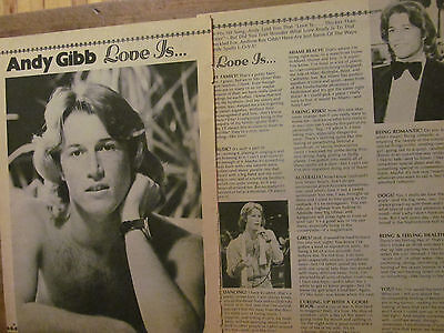 Andy Gibb, Two Page Vintage Clipping