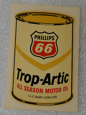 Phillips 66 New Old Stock NOS Vintage Water Transfer Decal Trop-Artic Motor Oil