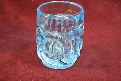 Gorgeous Blue EAPG Interlocking Loops Toothpick Holder - Maker Unknow