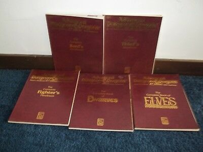 AD&D Dungeons & Dragons Handbooks x5 Complete Book of Bards Dwarves Elves +   W1