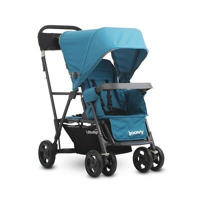 Joovy Caboose Ultralight Graphite Stand-on Tandem Stroller - Turquoise