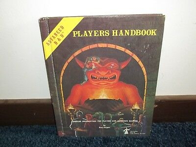 AD&D Dungeons & Dragons Players Handbook TSR First 1st Edition Nice    W3