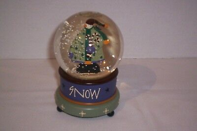 2007 Folk Collection By Williraye Musical Holiday Snow Globe