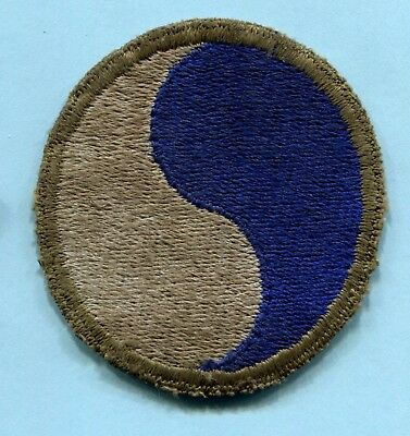 WWII SHOULDER PATCH 29th INFANTRY Greenback