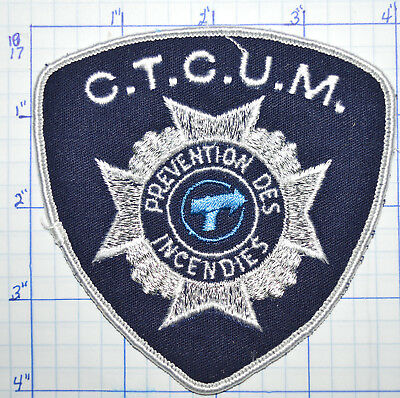 Canada, Ctcum Transport Urban Montreal Bus Fire Prevention White Edge Patch
