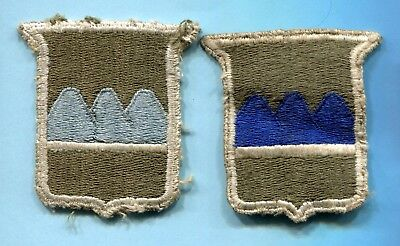 2 Different WWII SHOULDER PATCHES 80th Infantry Division * Greenback