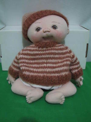 "Jan Shackelford  Preemie Yesterbaby Baby ""ricky"" Doll 2007 Ooak 12"" Tall Cloth"