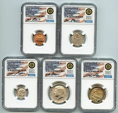 2017 S Enhanced Uncirculated Complete Set 10 coins NGC SP70 Miles Standish