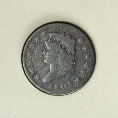 1808 U.S. Mint Classic Head Large Cent in G+ Condition