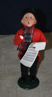 Desirable Byers Choice The Carolers Young Boy With Sheet Music Singing – 1992