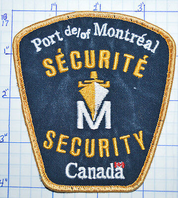 Canada, Port Of Montreal Securite Security Police Patch