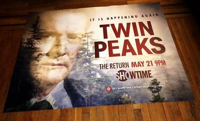 SHOWTIME TWIN PEAKS 5FT SUBWAY POSTER 2017 Kyle MacLachlan Dale Cooper