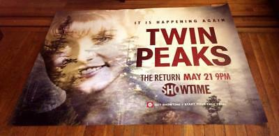 SHOWTIME TWIN PEAKS 5FT SUBWAY POSTER 2017 Sheryl Lee Laura Palmer