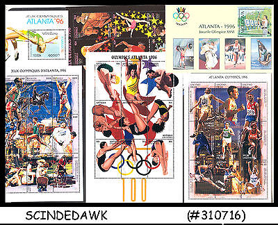 MINI LOT OF OLYMPIC GAMES ATLANTA 1996 MINIATURE SHEET DIFFERENT COUNTRIES 17nos
