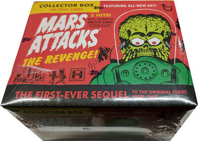 Mars Attacks the Revenge Factory Sealed Hobby Collectors Set Hobby Box