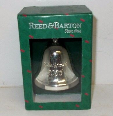 2006 Reed & Barton Silver Plate Bell Ornament in Box