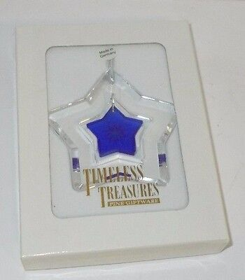 Timeless Treasures Crystal Glass Christmas Ornament Made in Germany , NIB
