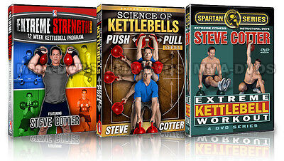 Steve Cotter's Extreme Workouts 1, Pull-Pull & Extreme Strength 3 DVD Combo Pack