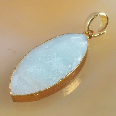 Multi-Color Amazonite Faceted Pendant Bead Gold Plated H103318