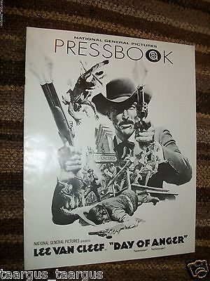 Day Of Anger - Vintage Pressbook - Spaghetti Western - 1973