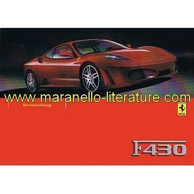 (3530) 2004 Ferrari F430 owner's manual 2088/04 (3rd printing) (Betriebsanleitun