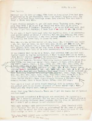 Three Vintage 1930s letters from ROY TEST to FORREST J ACKERMAN about Sci-Fi.