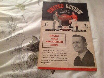 Football Programme Manchester United V Blackpool 1949/50