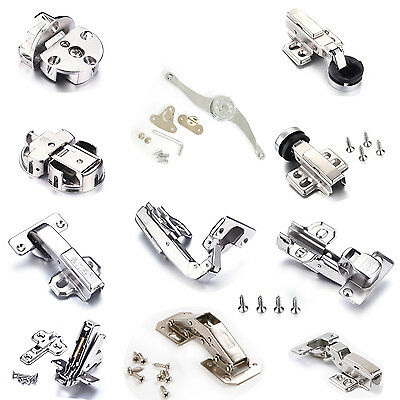 Door Cabinet Hinges Hydraulic Buffering Soft Close LiftUp Damper&Screw 1/2/4/8Pc