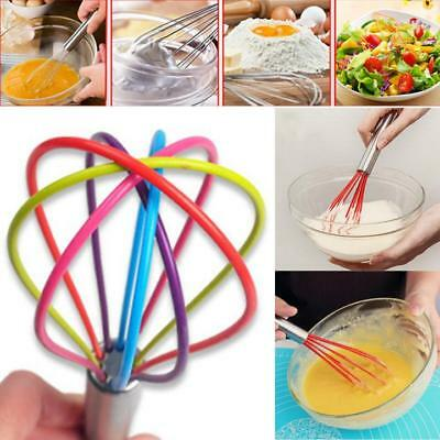 Kitchen Premium Silicone Whisk With Heat Resistant Non-Stick Multi Cook Tools