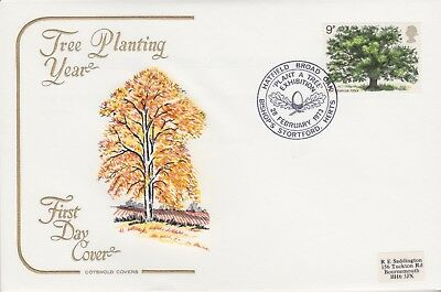 Gb Stamps First Day Cover 1973 Tree Hatfield Rare Pmk Collection