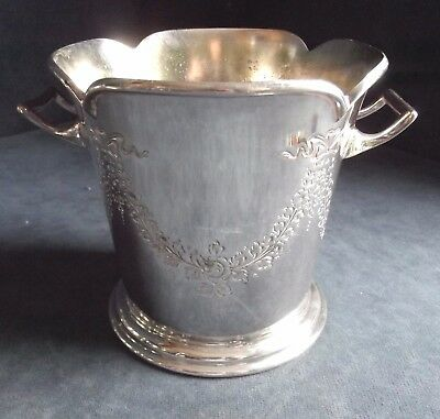 GOOD Cast ~ SILVER Plated ~ ICE Pail / JARDINIERE ~ c1920 by Atkins