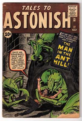 Marvel TALES TO ASTONISH 27 VG- 3.5 1st App ANT-MAN Pym GIANT MAN AVENGERS