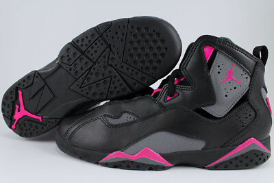 Nike Air Jordan True Flight Black/gray/pink Girls Kids Retro Hi High Youth Sizes