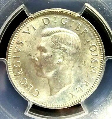 Great Britain 1944 George VI PCGS MS64 Secure Silver One Shilling Choice BU