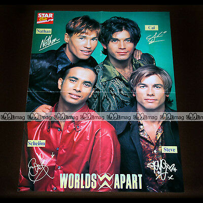 WORDLS APART / Nathan, Schelim, Cal & Steve (Boys Band) 90's - Poster #PM975
