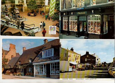 38 postcards of SHOPPING MALLS & CENTRE SHOPS & MARKETS